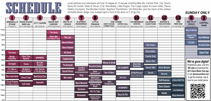 2013 DMF Schedule