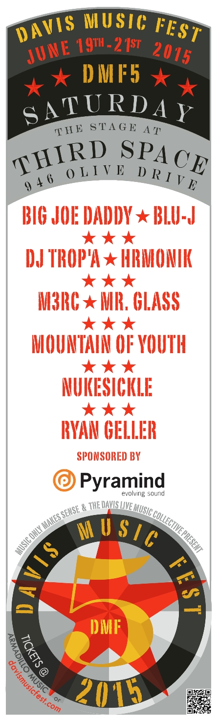 DMF5 lineup announcement posters THIRD SPACE